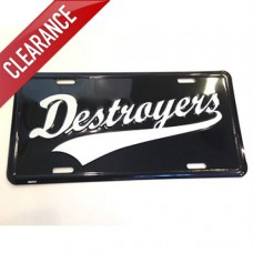 Destroyers License Plate
